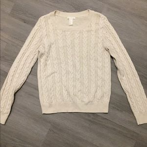 H&M cable sweater